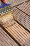 Decking painting staining Stock Images