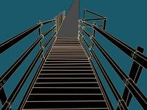 Decking pathway bridge drawing Stock Photos