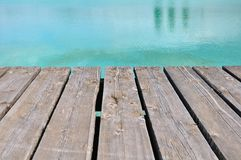 Decking to the water's edge Royalty Free Stock Images