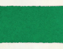 Deckled Edges on Green Paper Stock Photo