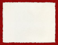 Deckled Paper On Red Stock Images