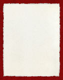 Deckled Paper with Red Border Stock Image