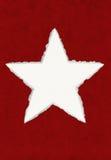 deckled paper star Στοκ Εικόνες