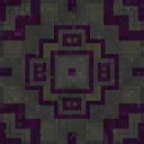 Deckt Mosaik erzeugte nahtlose Beschaffenheit mit Ziegeln Stockfotografie