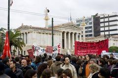 Declaimers a Atene 18_12_08 immagine stock libera da diritti