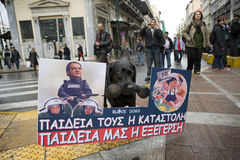 declaimers a Atene 18_12_08 Fotografie Stock