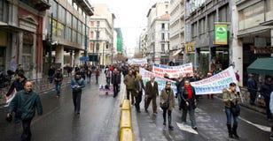 Declaimers in Athen 18_12_08 Stockfotos