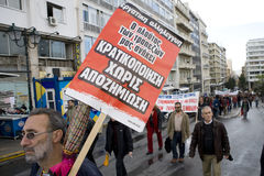 Declaimers em Atenas 18_12_08 Imagens de Stock