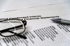 Declaração de rendimentos com lista do detalhe, conceito de contabilidade para a empresa de pequeno porte imagem de stock royalty free