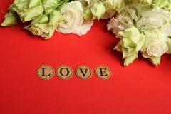 Declaração do amor imagem de stock