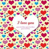 Declaração do amor Fotografia de Stock
