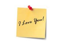 Declaração do amor Foto de Stock Royalty Free