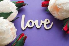 Declaração do cartão do amor Foto de Stock Royalty Free