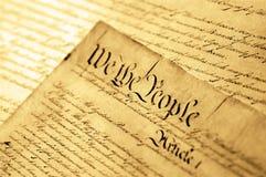 Declaração do Estados Unidos de independência imagens de stock royalty free