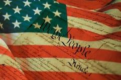 Declaração do Estados Unidos de independência Imagem de Stock Royalty Free
