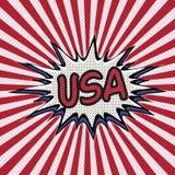 Declaração do pop art dos EUA, bolha cômica do discurso EUA Fotografia de Stock