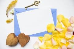 A declaração do Valentim romântico imagens de stock