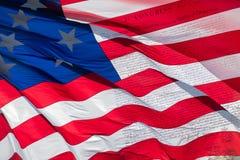 Declaração independência do 4 de julho de 1776 na bandeira dos EUA Imagem de Stock