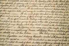 Declaração independência do fim do 4 de julho de 1776 acima imagem de stock