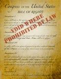 Declaración de Derechos, Imagen de archivo libre de regalías