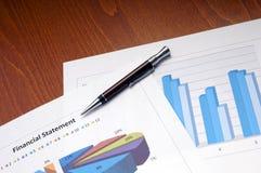 Declaración de finanzas imagen de archivo libre de regalías