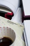 Declaración de impuestos 2012 Imágenes de archivo libres de regalías