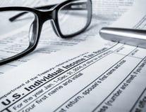 Declaración de impuestos 2014 Imagen de archivo libre de regalías