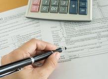 Declaración de impuestos imagen de archivo