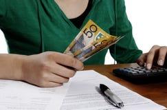 Declaración de impuestos financiera fotos de archivo libres de regalías