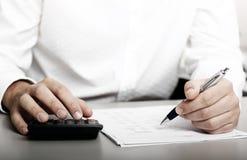 Declaración de impuestos financiera fotografía de archivo