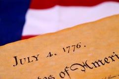 Declaración de Independencia imágenes de archivo libres de regalías