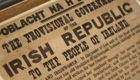 Declaración de la constitución de Irlanda Fotos de archivo libres de regalías