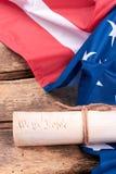 Declaración de la independencia de los Estados Unidos imágenes de archivo libres de regalías
