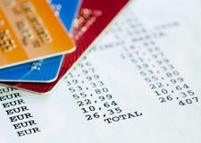 Declaración de la tarjeta de crédito imagenes de archivo