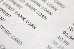 Declaración de la tarjeta de crédito Fotos de archivo