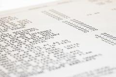 Declaración de la tarjeta de crédito Foto de archivo
