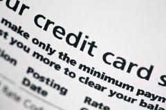 Declaración de la tarjeta de crédito fotografía de archivo libre de regalías