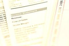 Declaración de renta Imagen de archivo