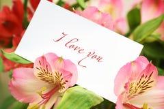 Declaración del amor fotos de archivo