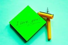 Declaración del amor Imágenes de archivo libres de regalías