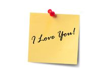 Declaración del amor Foto de archivo libre de regalías