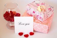 Declaración del amor Imagen de archivo