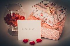 Declaración del amor Fotografía de archivo