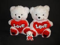Declaración del oso de la familia del amor Fotografía de archivo libre de regalías
