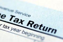Declaración sobre la renta Imagen de archivo