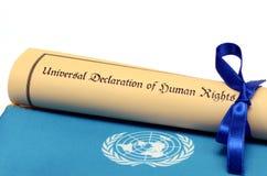 Declaración universal de derechos humanos Fotografía de archivo libre de regalías