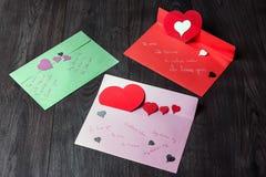 Declaraciones del amor para el día de tarjeta del día de San Valentín fotos de archivo libres de regalías