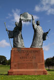 Declaration of Arbroath Monument. Celebrating the document signed in 1320 by the earls and barons of Scotland by which they vowed to defend the sovereignty of Royalty Free Stock Photos