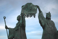 Declaration of Arbroath Statue. Declaring Scottish independence in 1320 Stock Photos