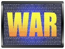 Declaration of Cyberwar Stock Image